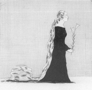 David Hockney: Rapunzel: The older Rapunzel, Die größer gewordene Rapunzel
